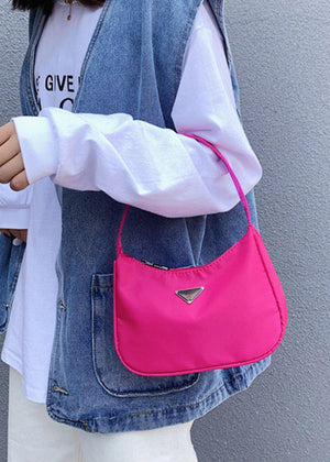 Small Pink Nylon 90's Handbag