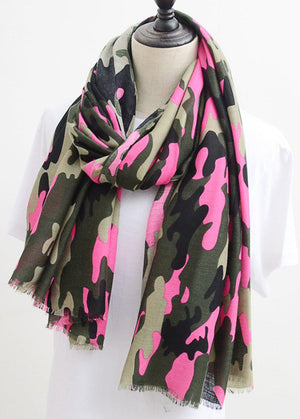 Pink Camo Army Scarf-TeenzShop