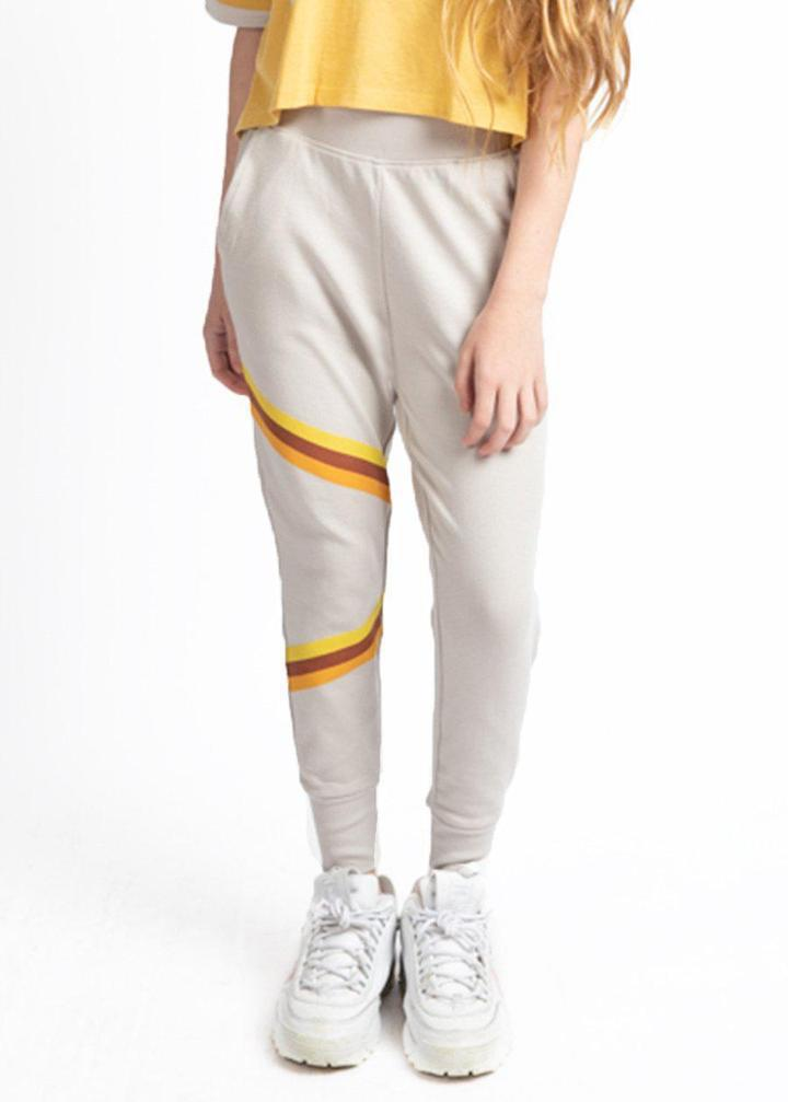 Girls Retro Stripe Joggers-TeenzShop