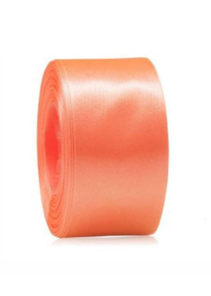 TeenzShop Satin ribbon shoelace-coral red