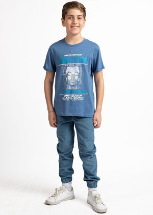 Boys Snoop Dogg Blue Graphic T-shirt-TeenzShop