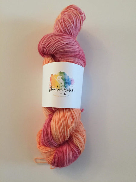 Sunset After Glow Hand Dyed Yarn, 100g/400m, 4ply/fingering/sock yarn