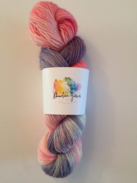 Unicorn Candyfloss Hand Dyed Yarn, 100g/400m 4ply/fingering/sock yarn