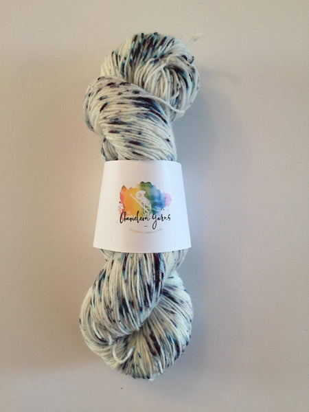 Chipped Sapphire Hand Dyed Yarn, 100g/400m, 4ply/fingering yarn