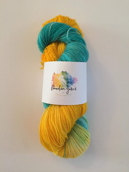 Summer Flounder Hand Dyed Yarn, 100g/400m 4ply/fingering yarn