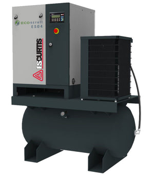 FS Curtis ES04 Eco Scroll Ultra Pack- 5hp Scroll Air Compressor, 60 Gallon Tank, Refrigerated Dryer, 14.5 CFM @ 116 PSI
