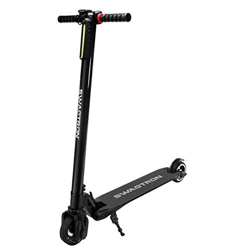SWAGTRON Swagger High Speed Adult Electric Scooter; Ultra-Lightweight Carbon Fiber; Easy Fold-n-Carry Design - Gogreenebikeco