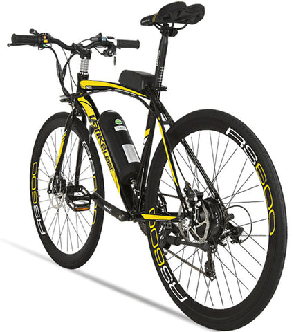 Lankeleisi RS600 Road Electric Bike 240W 36V 20HA Lithium Battery 21 Speed 700Cx28C 50CM Carbon Steel Frame with Smart Display - Gogreenebikeco
