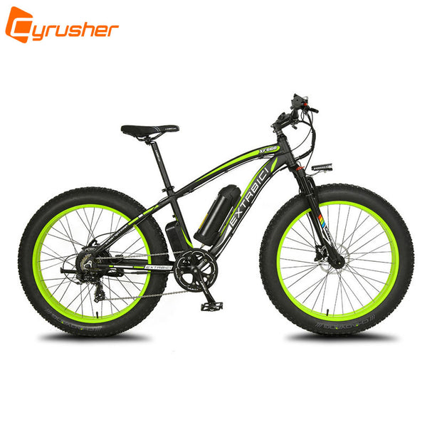 1000W 48V 16AH Cyrusher XF660 Fat Bike Snow Beach MTB Electric Bike 5 Setting Smart Computer Hydraulic Disc Brake 7 Speed ebike - Gogreenebikeco