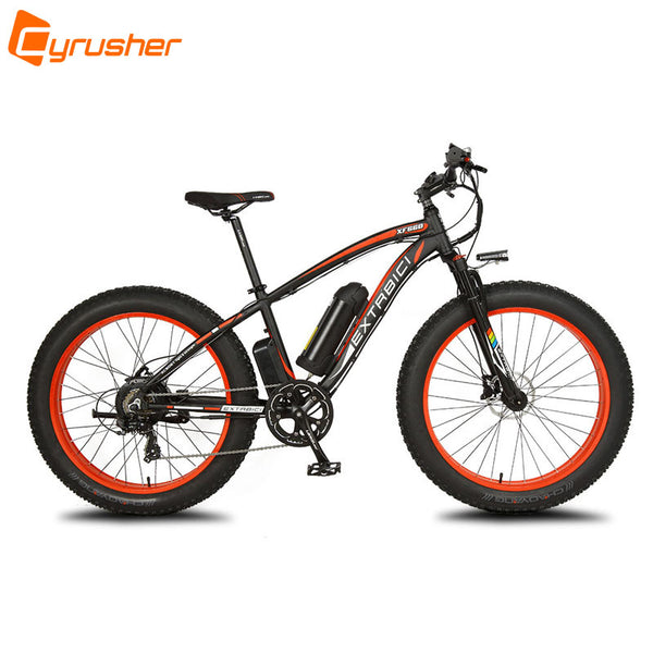 Cyrusher XF660 1000W 48V 16ah Fat Bike Up to 45KM/H Electric Mountain Bike 5 Setting Smart Computer Hydraulic Disc Brake 7 Speed - Gogreenebikeco