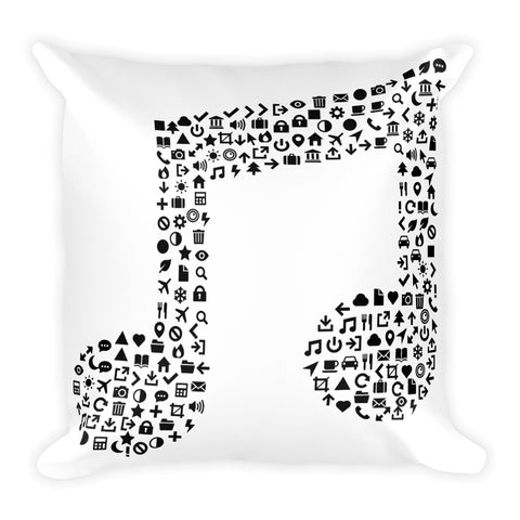 Music Note - Square Pillow