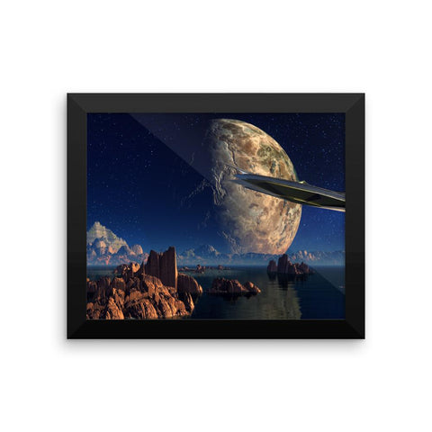 Alien Ship - Framed photo paper poster