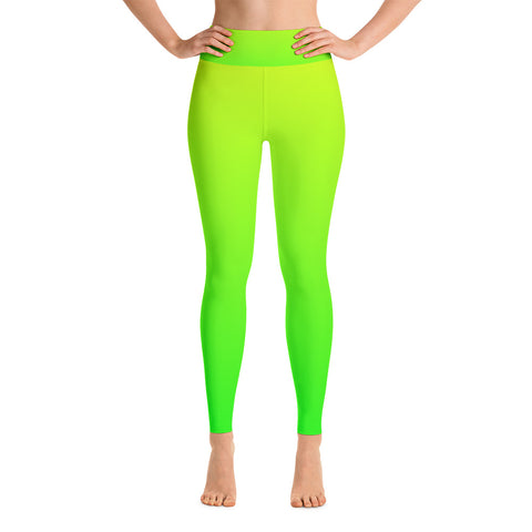 Nomvula - Golden Green Yoga Leggings