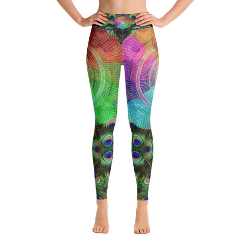 Mandala Peacock - 3D Yoga Leggings