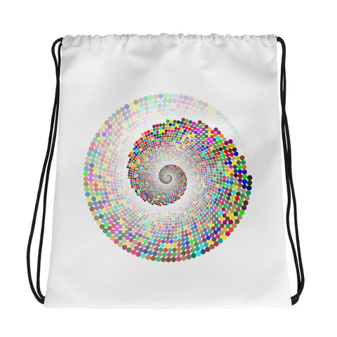 Rainbow Vortex Drawstring Bag