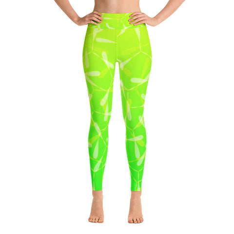 Nomvula - Green Lotus - Yoga Leggings