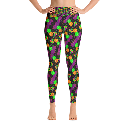 Atomic Flower - Yoga Leggings