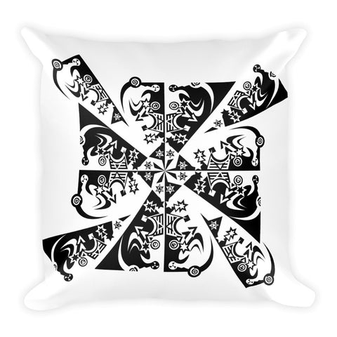 Tribal Cross Tess - Square Pillow