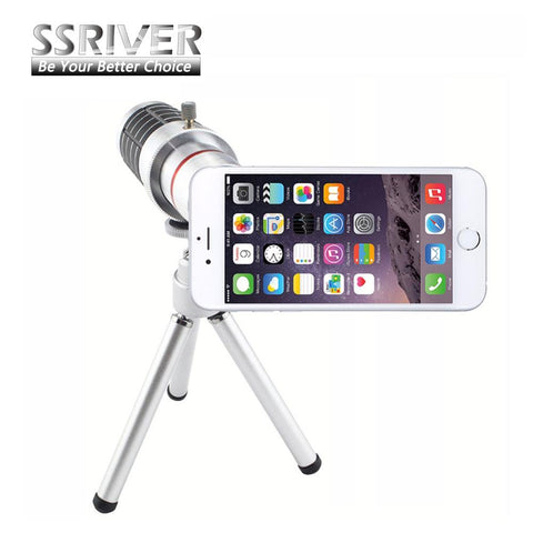 12x Optical Telescope Phone Camera Zoom Lens Kit