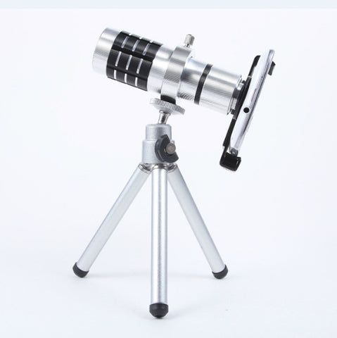Universal 12x Optical Zoom w/ Tripod & Case
