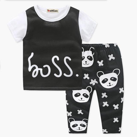 Boss Panda 2 Piece Baby T-Shirt + Pants