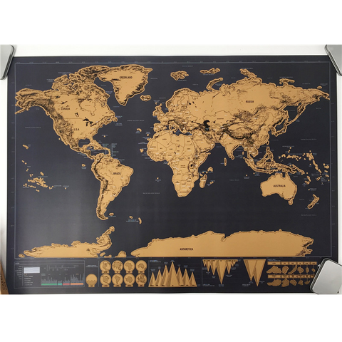 Deluxe Foil Layer World Map