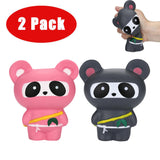 Stress Reliever Ninja Panda (Scented Slow Rising Squeeze Toy - 2Pcs Jumbo)