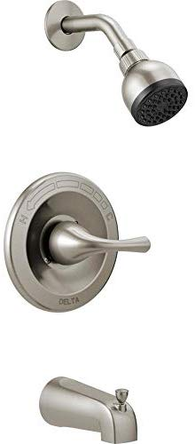 Delta Foundations Brushed Nickel 1-Handle Bathtub and Shower Faucet with Valve B114915C-SS
