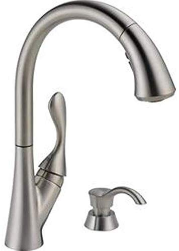 Delta 19922Z-SSSD-DST Ashton Stainless 1-Handle Deck Mount Pull-Down ShieldSpray Kitchen Faucet