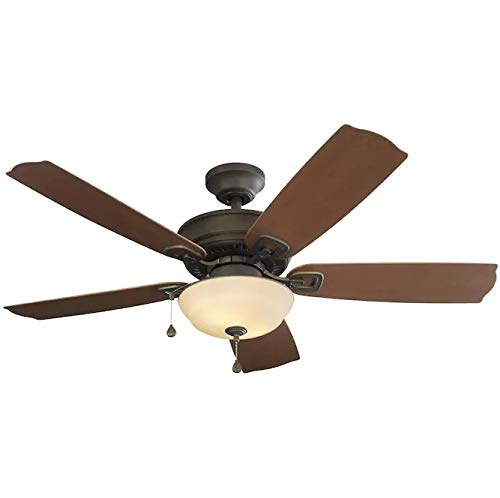 Harbor Breeze Echolake Oil-Rubbed Bronze 52-in LED Indoor/Outdoor Ceiling Fan (5-Blade)