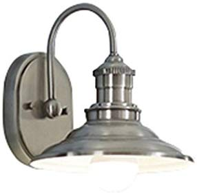 allen + roth Hainsbrook 1-Light 8-in Antique pewter Cone Vanity Light