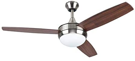 Harbor Breeze Beach Creek 52-in Brushed Nickel LED Indoor Ceiling Fan with Light Kit and Remote