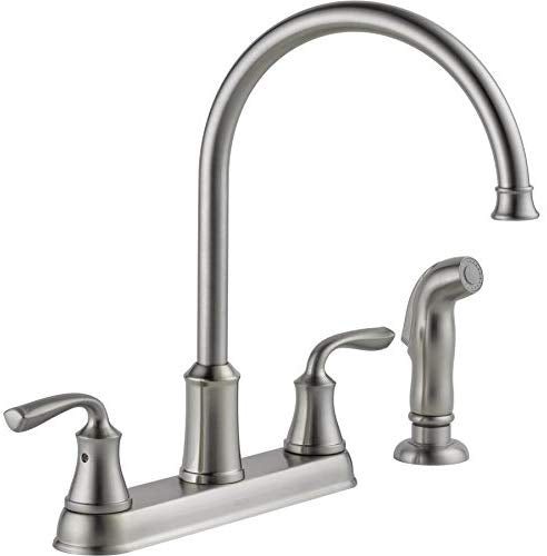 Delta Lorain Stainless 2-handle Deck Mount High-Arc Kitchen Faucet