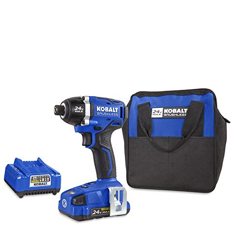 Kobalt 24-Volt Max Lithium Ion (Li-ion) 1/4-in Cordless Variable Speed Brushless Impact Driver with Soft Case