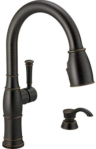Delta Valdosta Venetian Bronze 1-Handle Deck Mount Pull-down ShieldSpray Kitchen Faucet