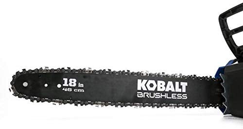 KT Kobalt 80-Volt Lithium Ion 18-in Brushless Cordless Electric Chainsaw (Battery Not Included)