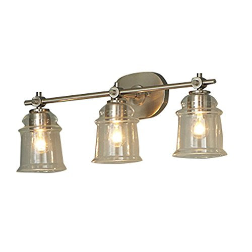 allen + roth 3-Light Winsbrell Brushed Nickel Bathroom Vanity Light