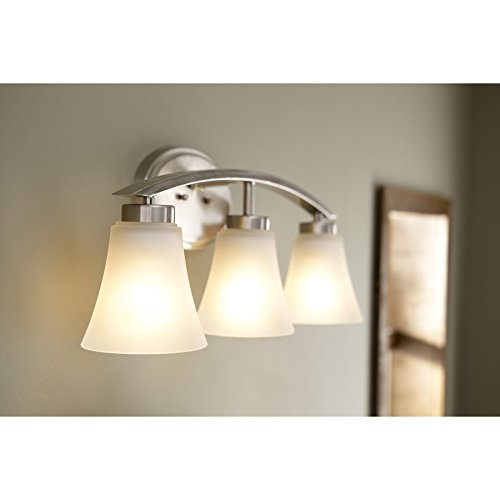 Portfolio 3-Light Lyndsay Brushed Nickel Bathroom Vanity Light