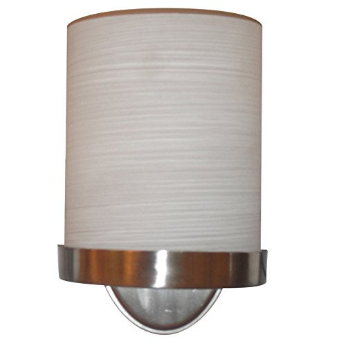 allen + roth Merington 6.5-in W 1-Light Brushed Nickel Pocket Hardwired Wall Sconce