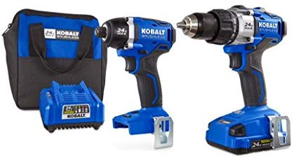 Kobalt 2-Tool 24-Volt Max Lithium Ion (Li-ion) Brushless Motor Cordless Combo Kit with Soft Case