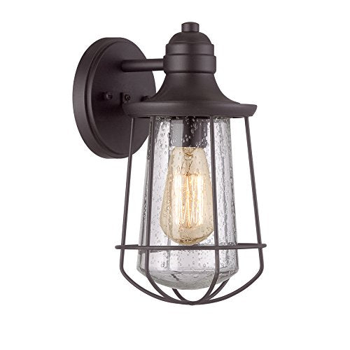 Portfolio Valdara 11.5-in H Black Outdoor Wall Light