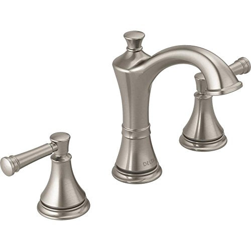 Delta Valdosta Two Handel Widespread Lavatory Faucet Brushed Nickel Finish