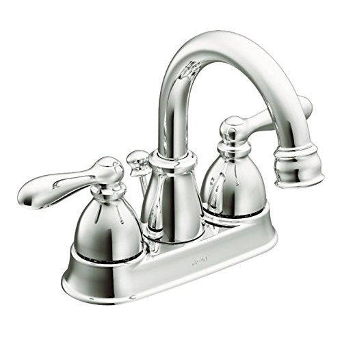 Moen WS84667 Caldwell Two-Handle High Arc Bathroom Faucet, Chrome