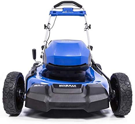 KT Kobalt 80-Volt Max Brushless Lithium Ion 21-in Push Cordless Electric Lawn Mower (Battery Included)