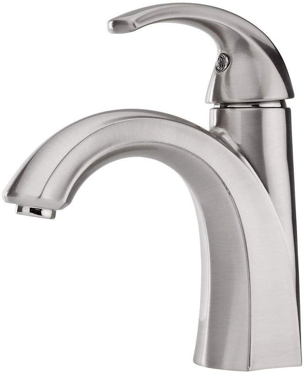 Pfister Selia Brushed Nickel 1-Handle Single Hole/4-in Centerset WaterSense Bathroom Sink Faucet with Drain