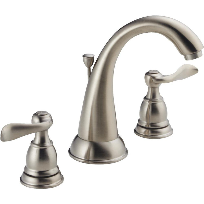 Delta Faucet 35996LF-BN-ECO Windermere 2-Handle 6 in. to 16 in. Widespread Lavatory Faucet with Pop-Up