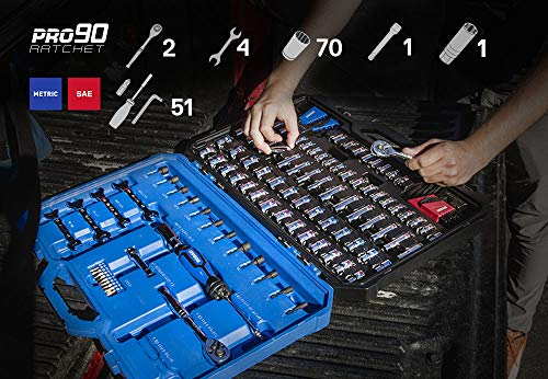 Kobalt 129-Piece Standard (SAE) and Metric Mechanic's Tool Set with Hard