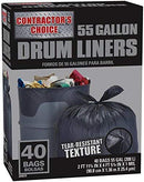 Contractor's Choice Trash Bags 55 Gallon 40 Count