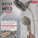 Delta In2ition 75588SN Satin Nickel 5-Spray Dual Shower Head 2-Pack