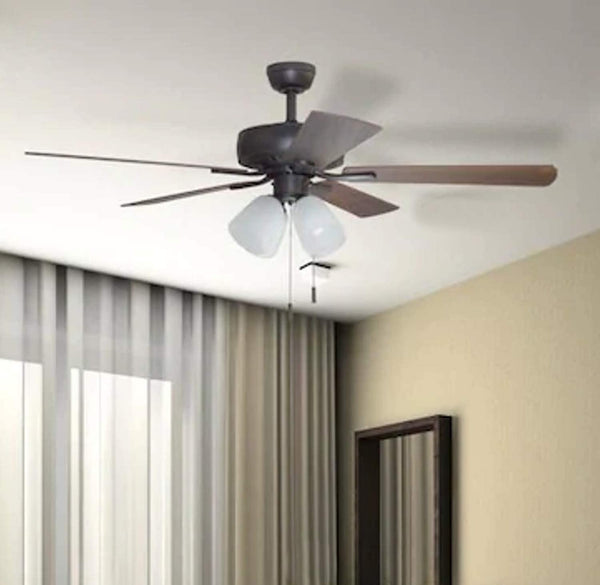 Harbor Breeze Grace Bay 52-in Bronze LED Indoor Residential Ceiling Fan with Light Kit Included (5-Blade)
